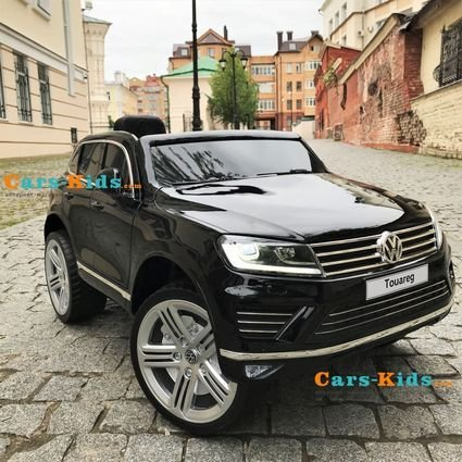 Электромобиль Volkswagen Touareg (колеса резина, кресло кожа, пульт, музыка, усиленный акб)